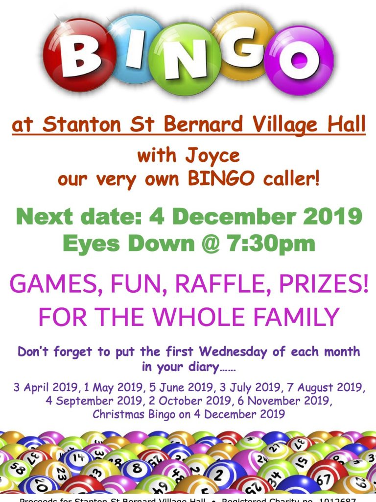 Bingo Poster 4 Dec 2019