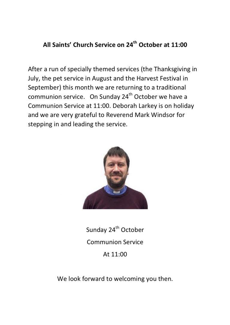 Church Service Oct 24th 2021
